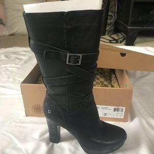 NWB ugg jardin black boots | 7